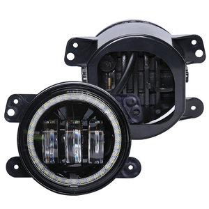 "Halo Ring 4"" Led Fog Lights for Jeep Wrangler JK Led Fog Lamps"