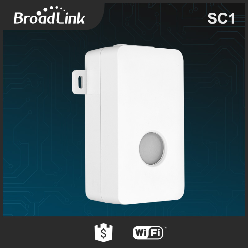 BroadLink SC1 smart home use wifi controlled light switch via iOS and Android phone