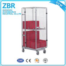 Warehouse Steel Security Cargo Storage Roll Cage Container