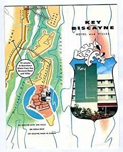 Key Biscayne Hotel and Villas Brochure Miami Florida 1950's The Island Paradise