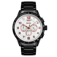 중국어 공장 skmei 9176 perpetual calendar 남성 chronograph black wrist watch 망 brand 손목