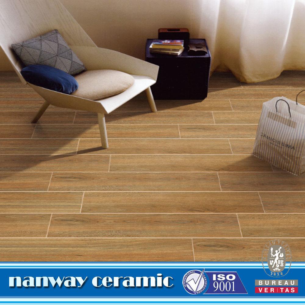 Nuova promozione stock liquidazione marrone rullo di stampa di disegno effetto legno pavimento - Stock piastrelle effetto legno ...