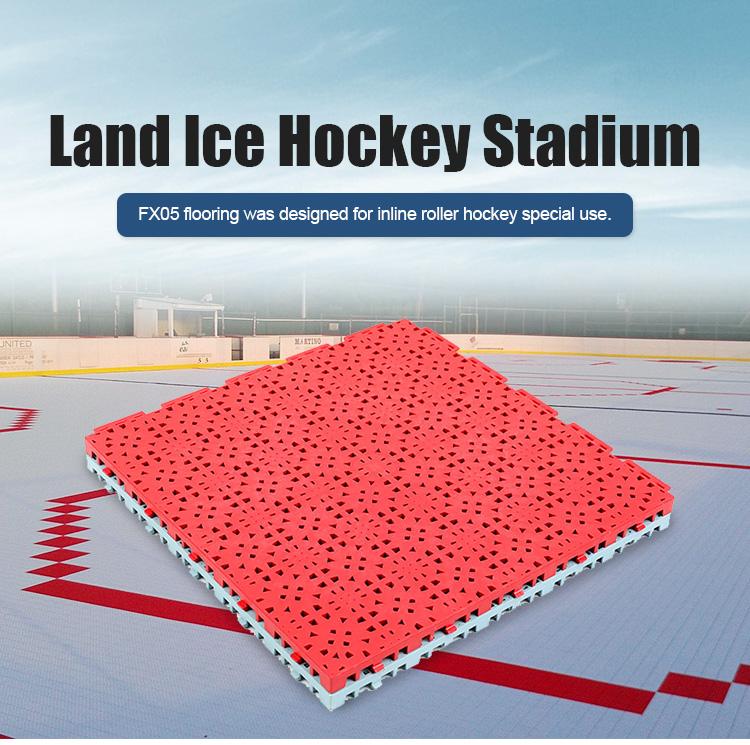 Indoor hockey grijpende modulaire clear plastic vloertegel
