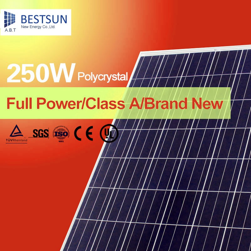 Top quality 250w black mono solar panel 60 solarcells mono