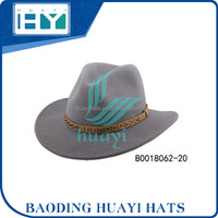 women wool felt cowboy hat with leather band for sale