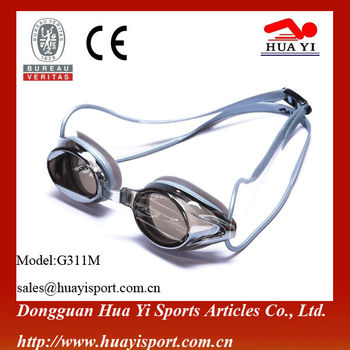 flexible UV water sports Anti-fog Silicone Swimming Goggles