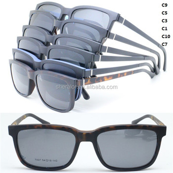 8e2adf62ebad dropshipping new style TR90 opitcal flexible hinge glasses square frame with  magnetic clip-on polarized
