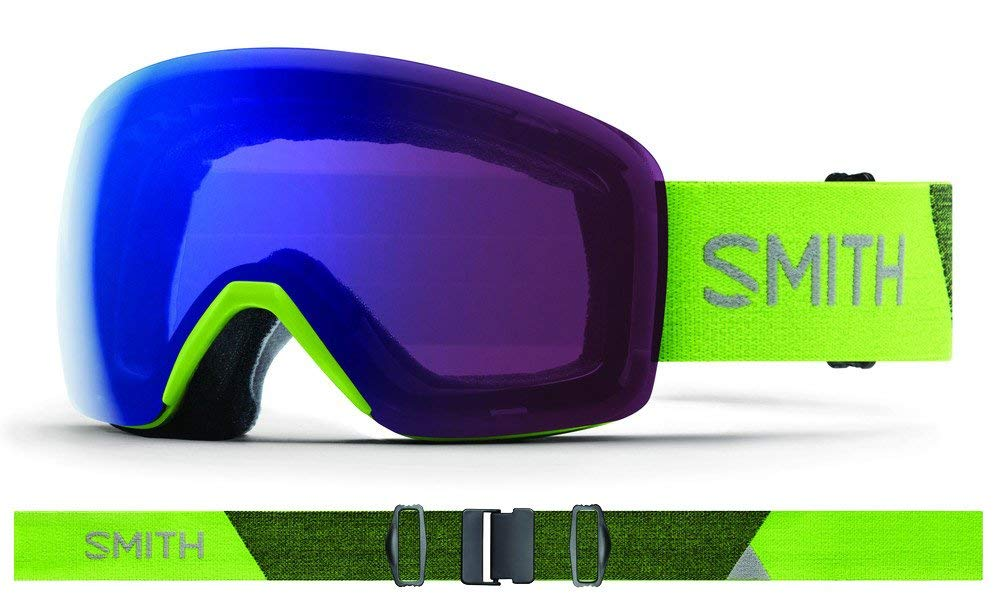 57873b60b4c25 Get Quotations · Smith Optics Skyline - Asian Fit Adult Snow Goggles - Flash  Chromapop Photochromic Rose Flash