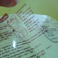 Self adhesive sublimation logo print transparent pvc sticker label paper for plastic bottles, Customized transparent labels