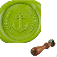 custom design anchor sealing Wax Stamp set ( wood handle)