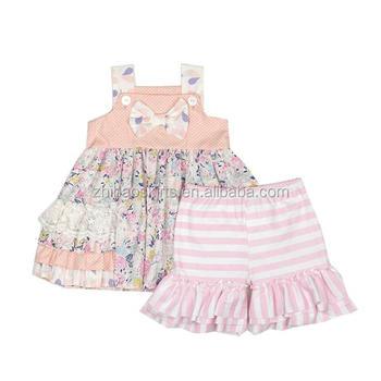 b4882742b35 zhihao kids clothing girls 2 pcs outfit summer baby girls outfit for easter  baby outfit toddler