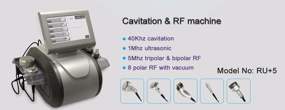 40KHz Cavitation Multipolar Bipolar RF Vacuum Slimming 5 in 1 machine RU+5