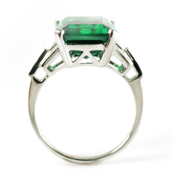 יוקרה 6.64 ct ננו רוסית ברקת טבעת אופנה לנשים מתנה 925 תכשיטי כסף סטרלינג מוצק 2015 מותג חדש