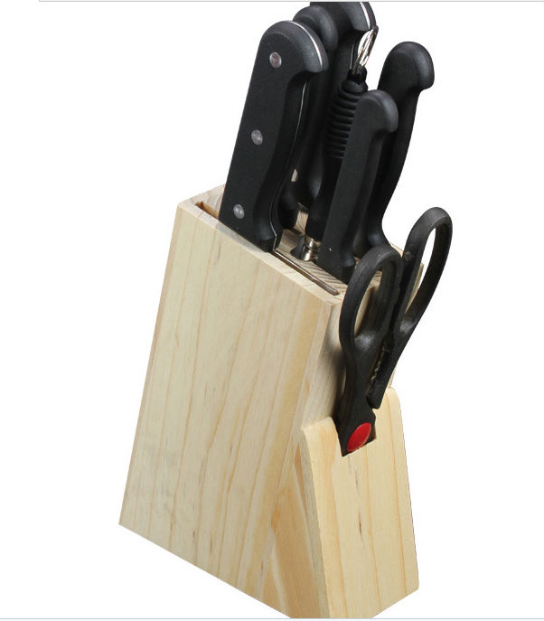 Hot sales kitchen knives set stainless steel knife with wooden block