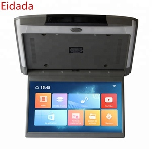 New Arrival 1920*1080 FHD 12 5 Inch Roof Mount Car Motorized Flip Down Car  Monitor with Android Mp5