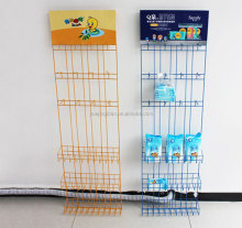Direct manufacturers, metal wire grocery shelves Cosmetics wet towel display stand beverage promotion exhibition rack