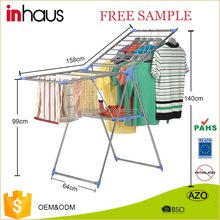 2017 High quality stainless steel hanging clothes drying rack foldable clothes lines