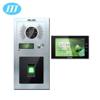 Melsee 10 Zoll Ip Video-türsprechanlage Sprechanlage Mit Fingerprint ...