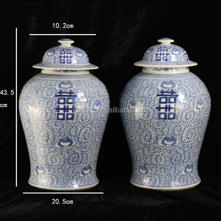 Jingdezhen antique ceramic wholesale blue and white large porcelain ginger jars