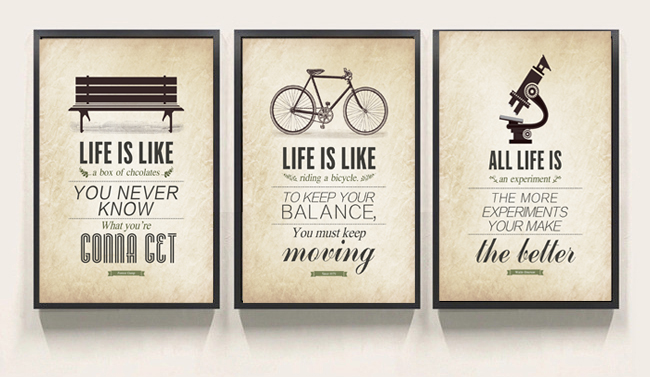 3 piece modern minimalist bedroom wall art black white motivational typography quotes large. Black Bedroom Furniture Sets. Home Design Ideas