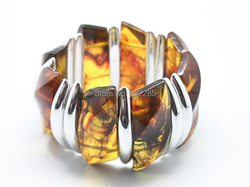 Бусины браслет модный себе плетёные браслеты смола янтарь браслет браслеты женщины ювелирные изделия богемный 7022