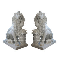 Garden Decoration Antique Marble Lion Statues For Sale