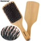 .Bristle Hair Brush Wooden Hair Comb Rolling Comb Easy to Used Beauty Bristle Brush