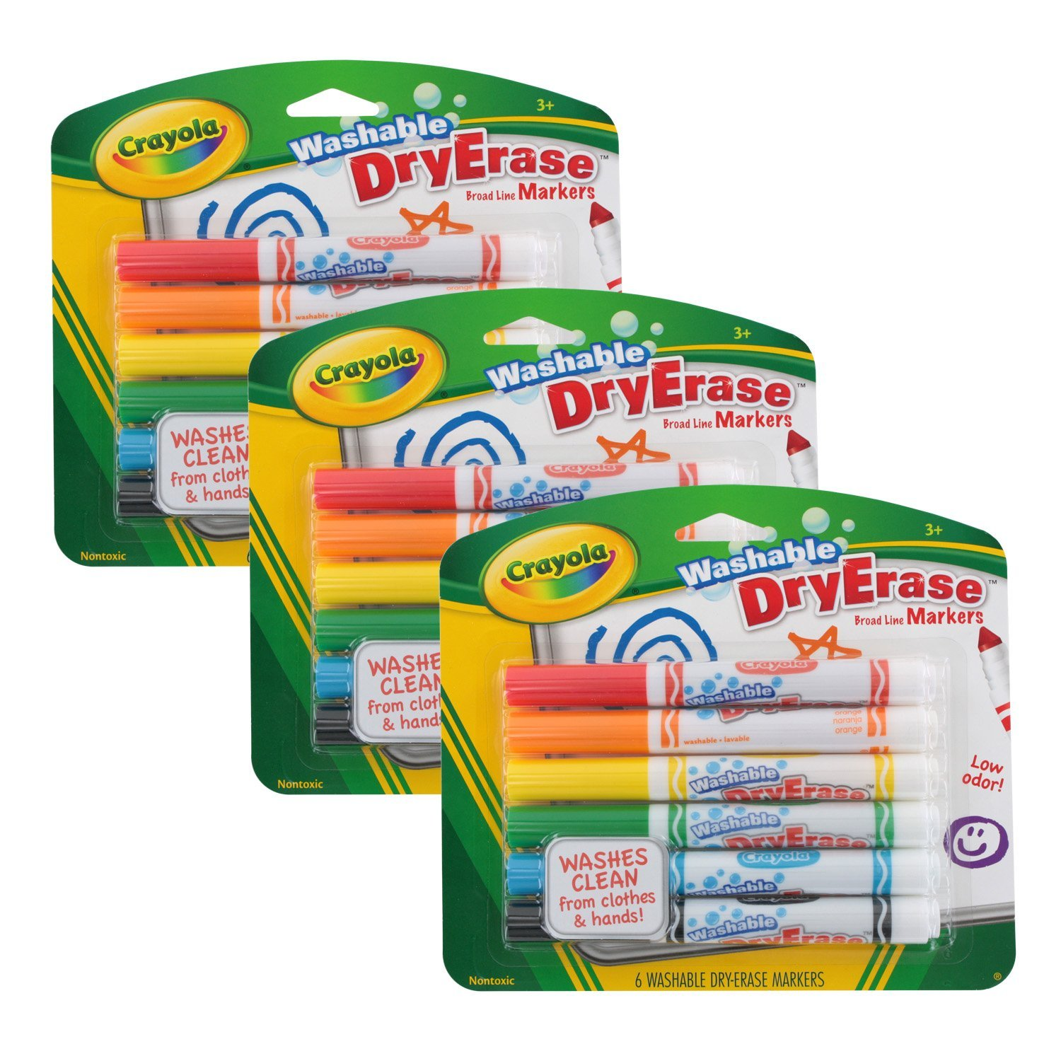 buy crayola washable dry erase markers assorted colors 12 count