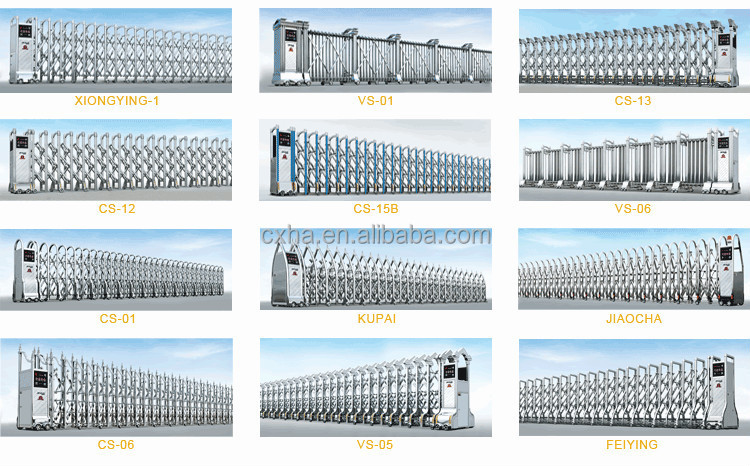 Stainless Steel Retractable Sliding Gate Design Drawings