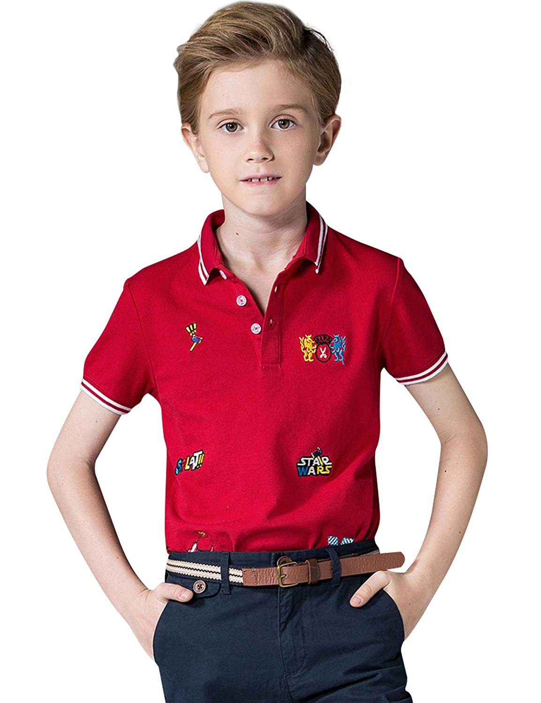 Lexiu Yibai Vintage Army Embroidery Polo Shirts Embroidered Shirts
