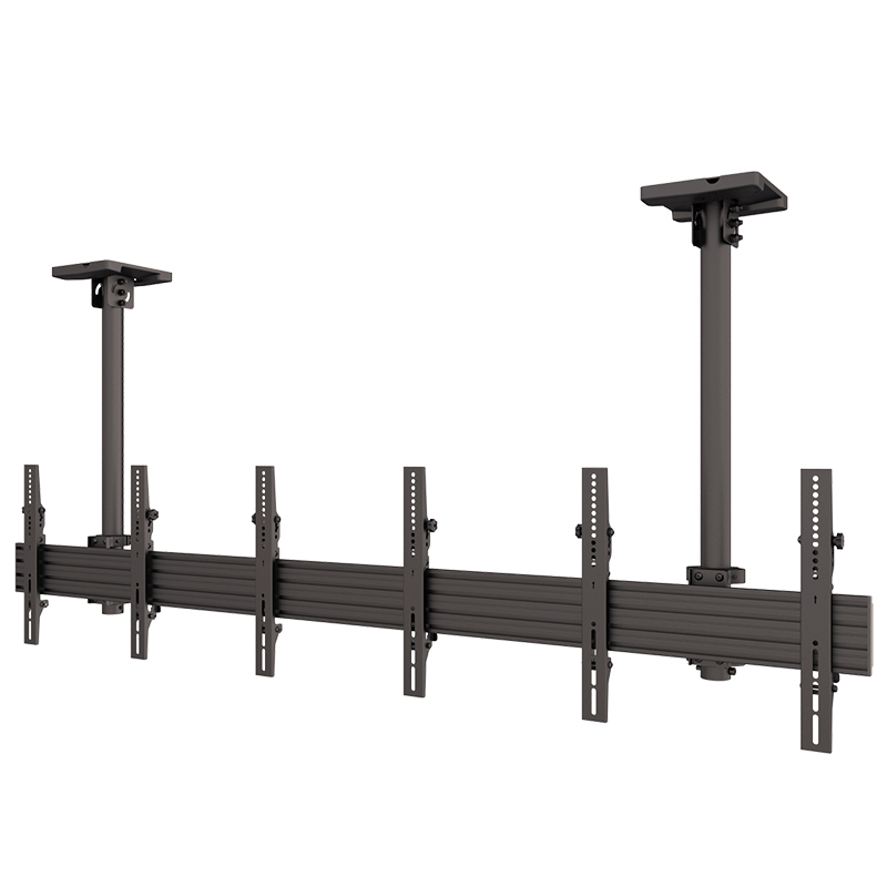 8 Years Factory Supply Tilting TV Ceiling Mount For Triple Flat Panel