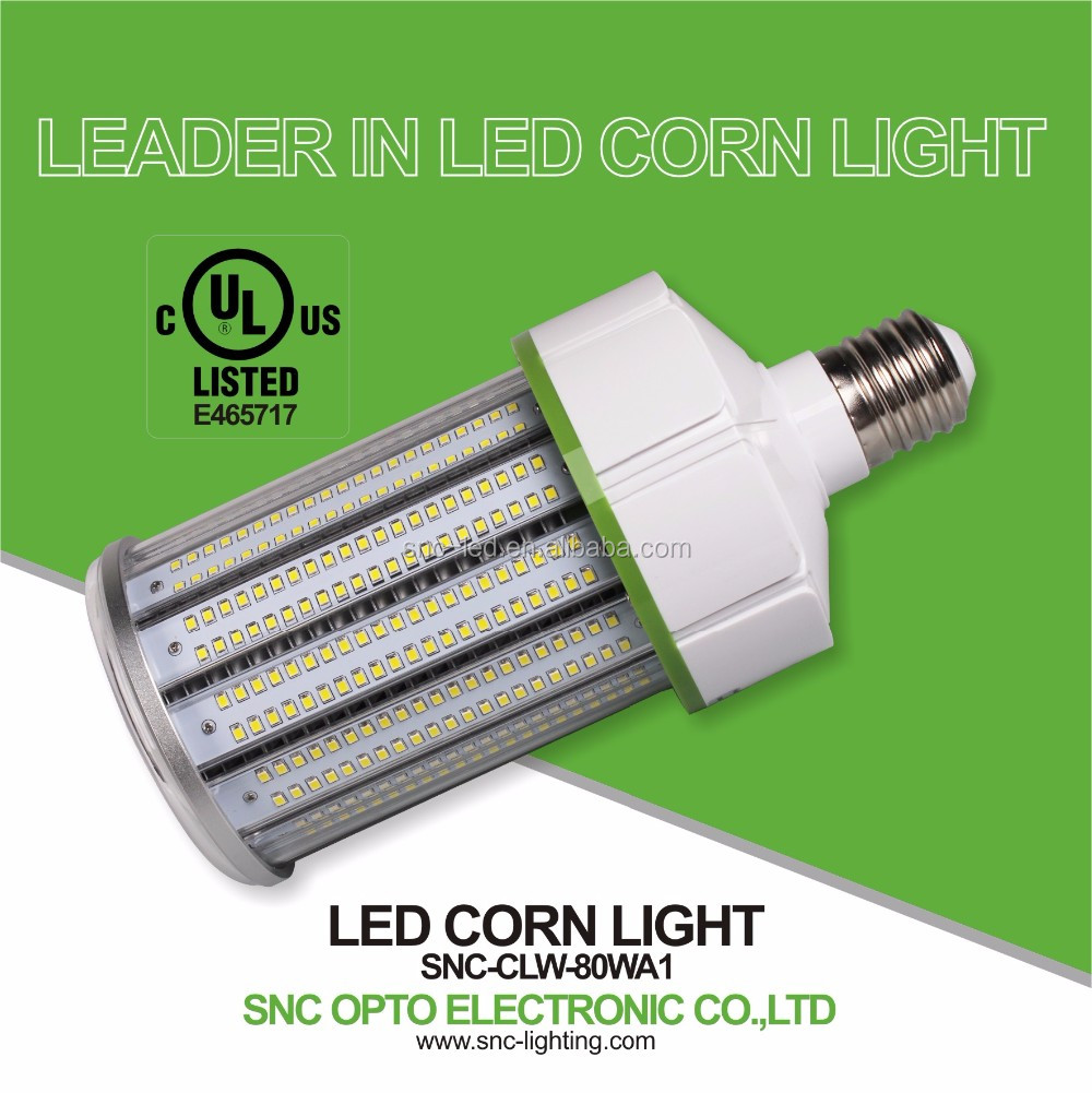 UL cUL Listed LED Corn Light, E39 Mogul Base LED Corn Bulb, 80W SNC LED Corn Lamp