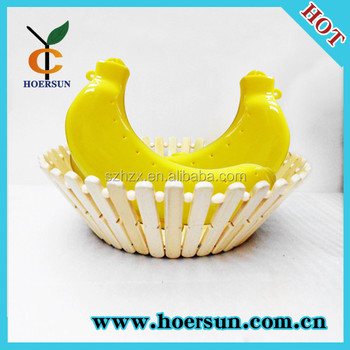 Superbe Cute Banana Shaped Protector Case Container Fruit Storage Box