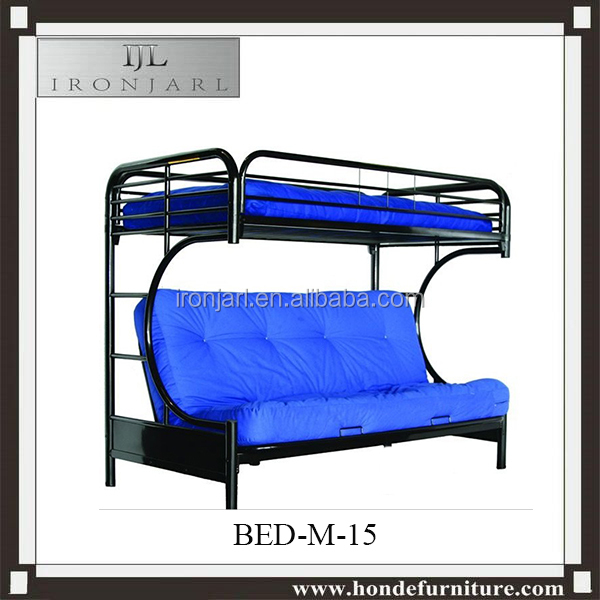Metal Folding Twin Over Futon Sofa Bunk Bed Frame In Black Y