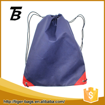 Non-woven Fabric Dark Blue Cheap Custom Drawstring Bags No Minimum ...