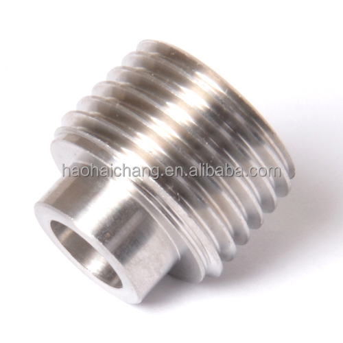 CNC machined parts stainless steel external threaded tube