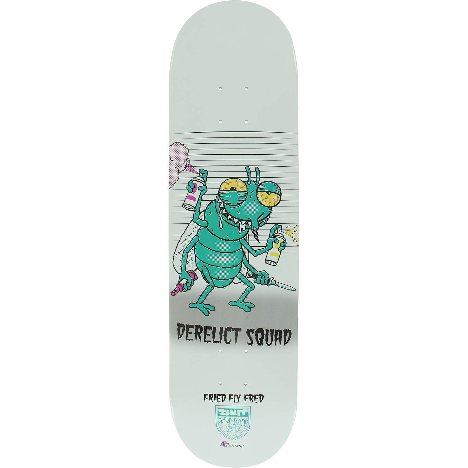 "Shut Skateboards Steve Nazar Fried Fly Fred Skateboard Deck - 8.25"" x 32"""