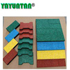 Factory Customized Anti-Slip Interlocking Outdoor Rubber Flooring Tiles Pavers for Walkway/Park /Yard Floor/Garden/Playground