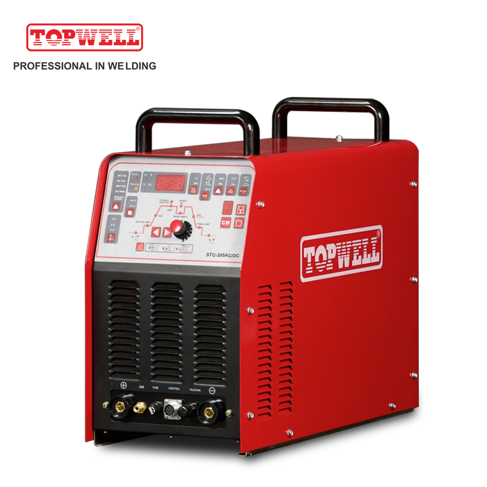 4 in 1 multi process 200 tig welder ac dc mma plasma cutting welding machine STC-205AC/DC