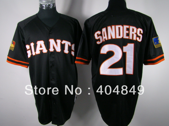 ... black and orange baseball jersey ... 2017 San Francisco Giants Retired  Jerseys Stitched Mens Cream Gray 9 Matt Williams 21 Deion Sanders ... be5f20cfa