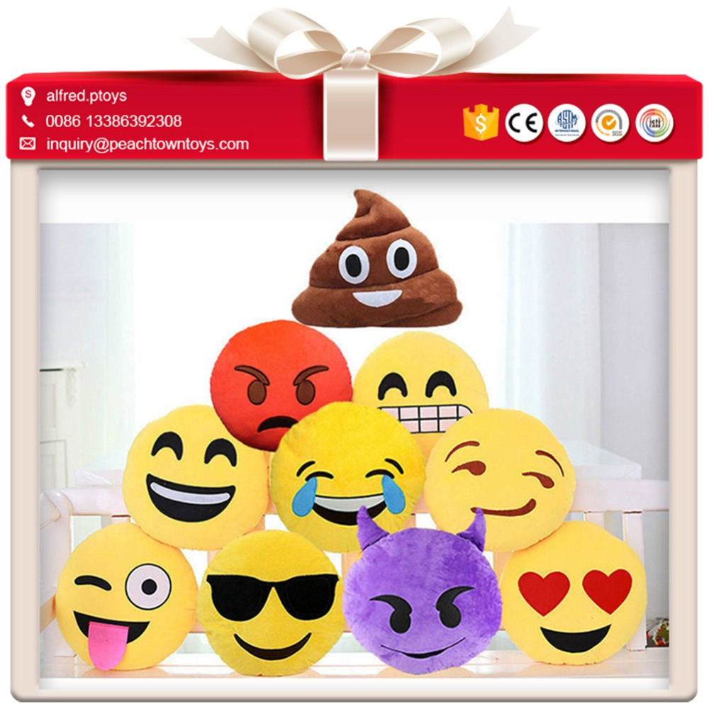 Competitive prices stuffed smiley face soft toys