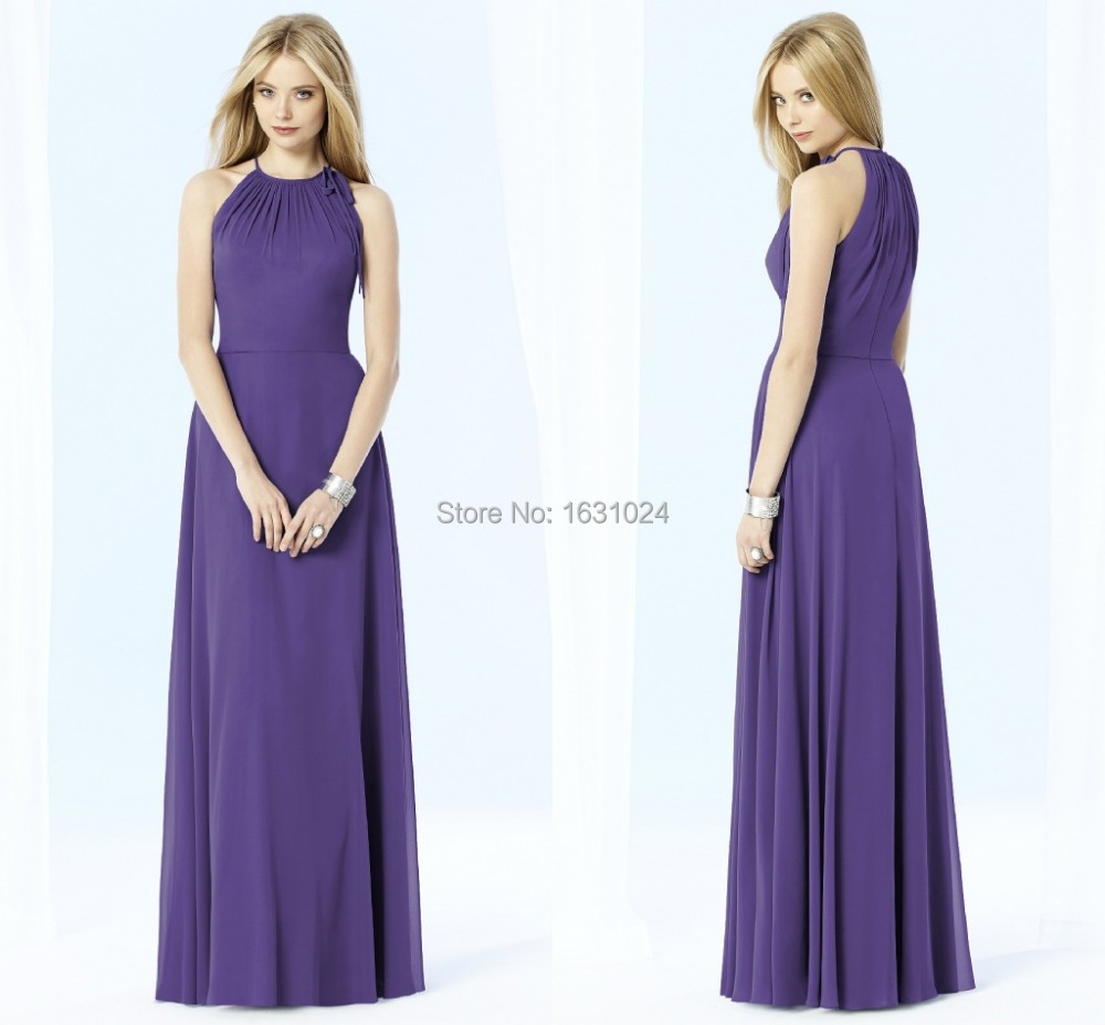 Cheap purple chiffon bridesmaid find purple chiffon bridesmaid get quotations enchanting halter chiffon purple bridesmaid dresses for purple wedding chiffon floor length bridesmaid dress party gown ombrellifo Images