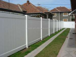 vinyl fence post/ 2014 new design vinly privacy fence / PVC valla de jardin