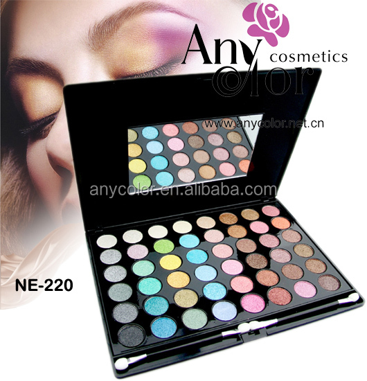 Create your own brand mineral pressed glitter OEM makeup 48 color eyeshadow