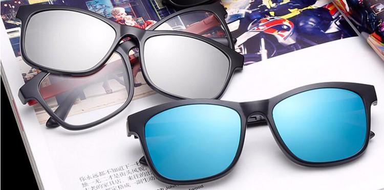 addad16d862a9 Compre BENZEN Homens Clipe Magnético Polarizada Óculos TR Masculino ...