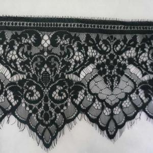 18cm Width Fashion Black Elastic Lace band,elastic webbing,women underwear elastic band LC075