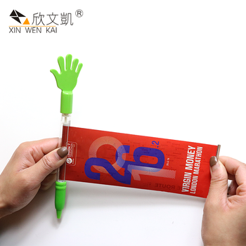 Wholesale Advertising Plastic Hand Shaped Cartoon Character Banner Pen