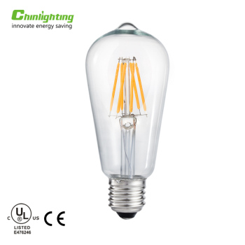 6w 220v st64 led high lumen e26 e27 b22 6w S21 S14 led filament bulb