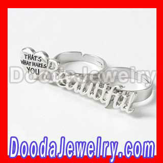 One Direction Lyric Two Finger Ring Jewelry Wholesale