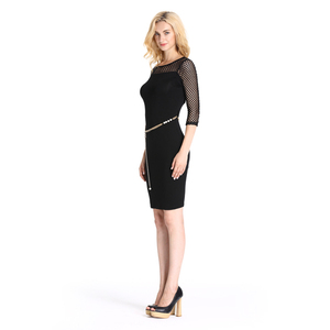 Half Sleeve Cool Office Style Women Lasted Sexy Dress 2016